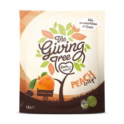 The Giving Tree Peach Crisps 18g - Freeze-dried Fruit Crisps
