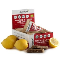 Organic Rosehip & Lemon Bar 12 x 48g