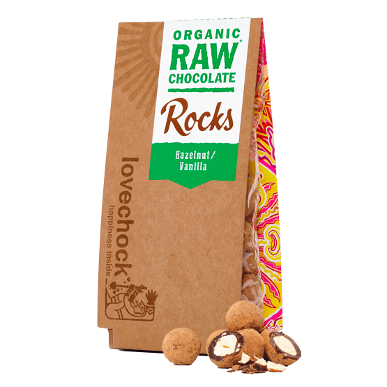 Organic Hazelnut & Vanilla Chocolate Rocks 80g