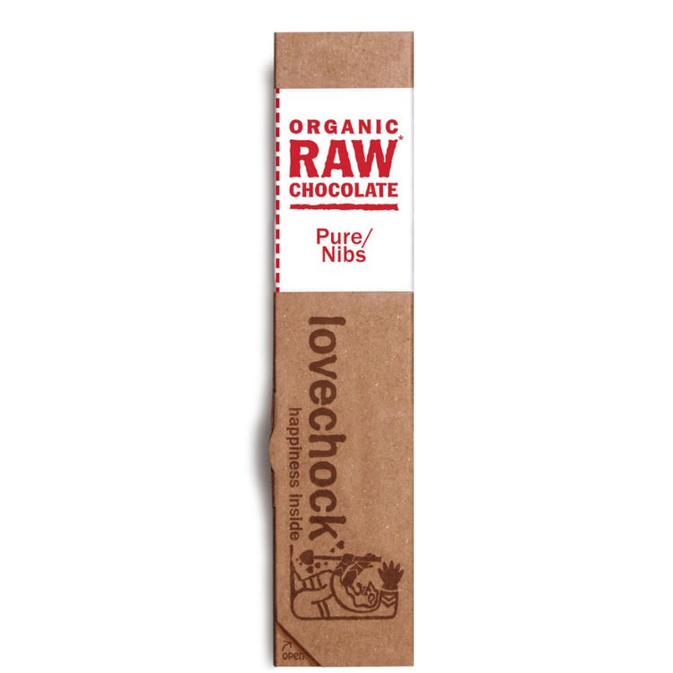 Organic Raw Pure Nibs Chocolate Bar 40g