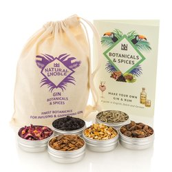 Gin Botanicals and Infusions Kit - Set of 6 Finest Botanicals and Spices for Gin