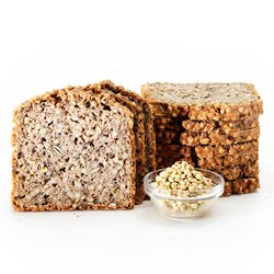 4 x Organic Buckwheat & Linseed Sprouted Bread - Sliced Gluten-Free Bread 390g - Freezable Bread