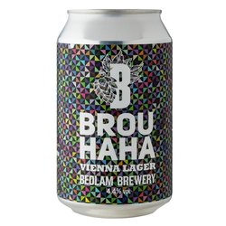 12 x Brou HaHa Vienna Lager by Bedlam Brewery 330ml 4.4% ABV