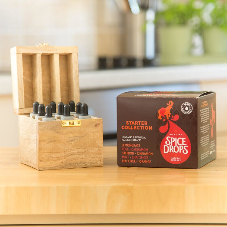 Spice Drops Starter Collection with Solid Wood Rack