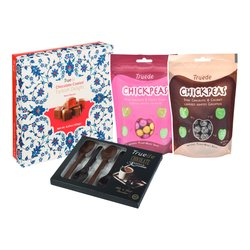 Chocolate Turkish Delight Set by Truede with Chocolate Roasted Chickpeas