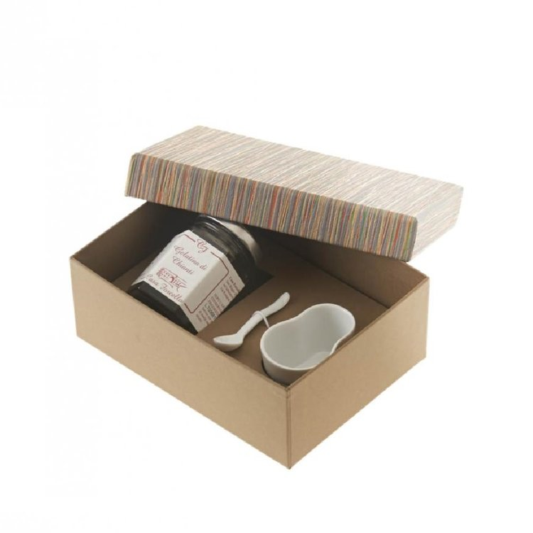 Prosecco Jelly or Fruit Mustard Gift Box with Serving Bowl & Spoon for Cheese Lovers