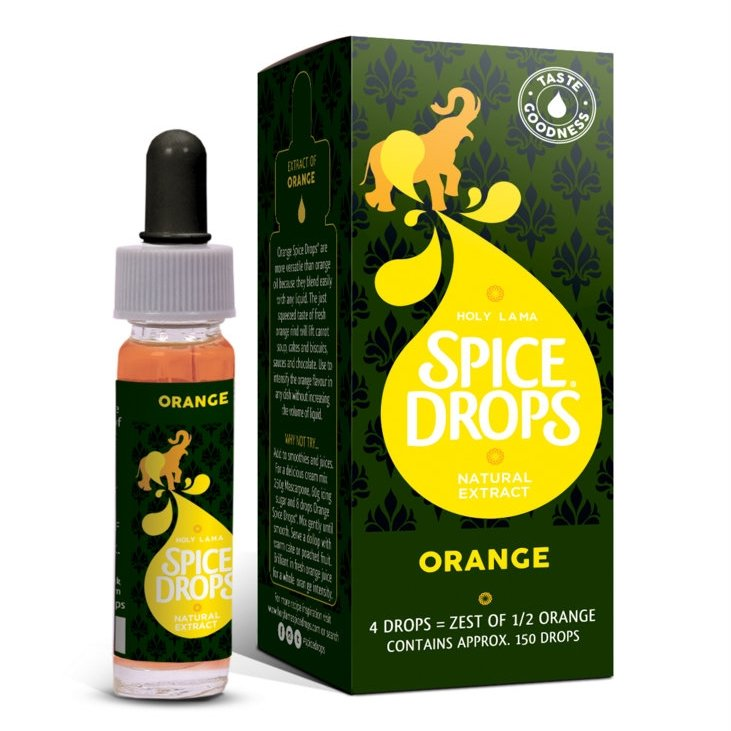 Orange Spice Drops 2 x 5ml (Ingredient for Baking Desserts, Cakes)