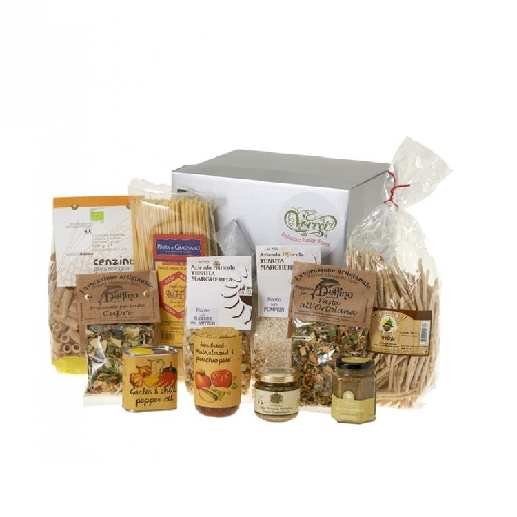 Five Minute Italian Vegetarian Meals Gift Box - Easy Meals Inc. Pasta, Risotto, Pesto, Sauces & Oil