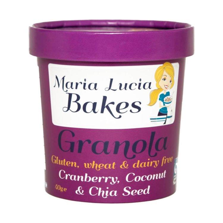 Cranberry, Coconut & Chia Seed Gluten Free Granola Pot 40g