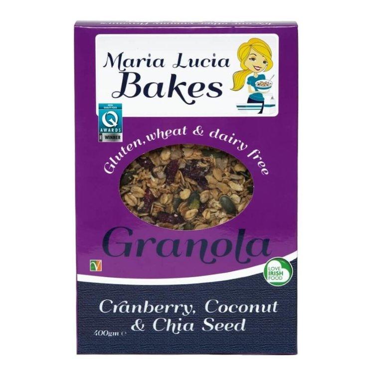 Gluten-Free Cranberry, Coconut & Chia Seed Granola 400g