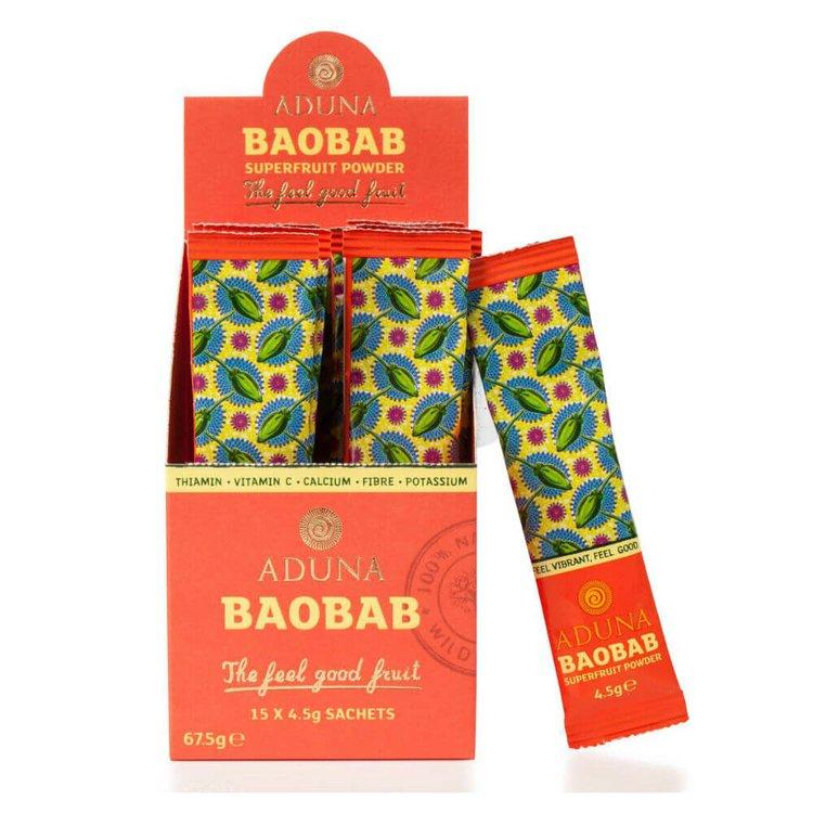 Organic Baobab Superfruit Powder 15 x 4.5g Sachets