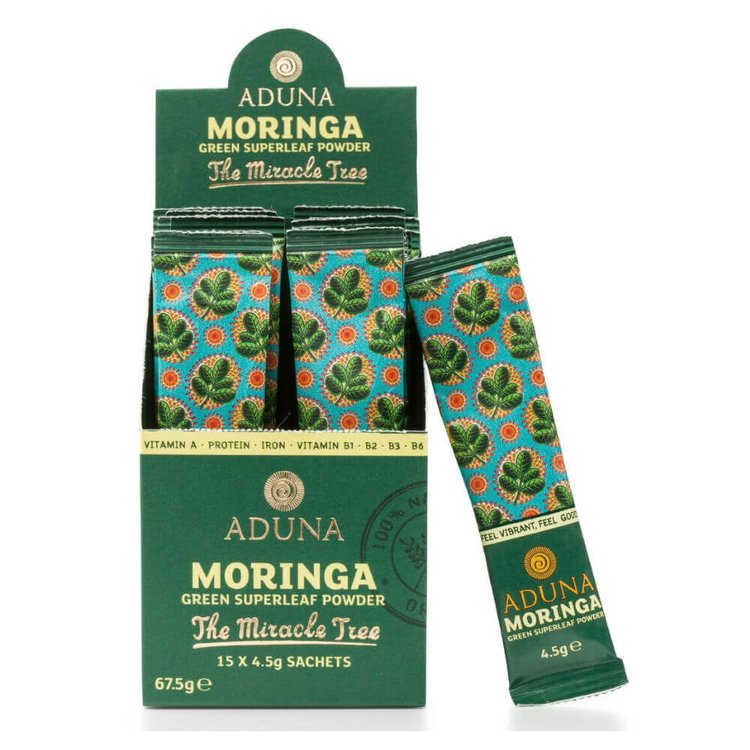 Organic Moringa Superleaf Powder 15 x 4.5g Sachets