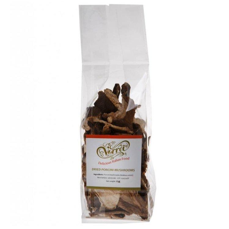 Dried porcini mushrooms 25g 8ukt