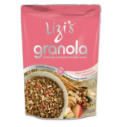 Lizi's Pink Apple & Cinnamon Granola Breakfast Cereal 400g With Nuts & Seeds