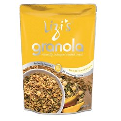 Lizi's Mango Macadamia Granola Breakfast Cereal 400g With Nuts & Seeds