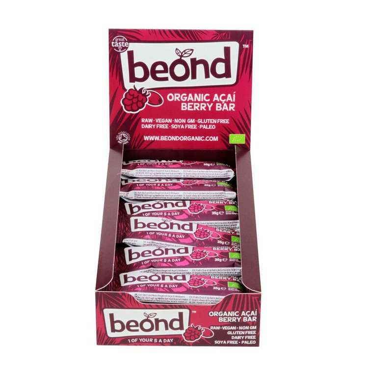 Organic Acai Berry Bar 18 x 35g