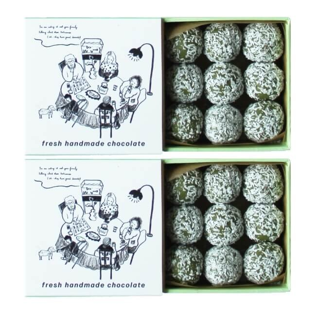 Chilled Desiccated Coated Vietnamese Green Tea Truffles 2 x 90g