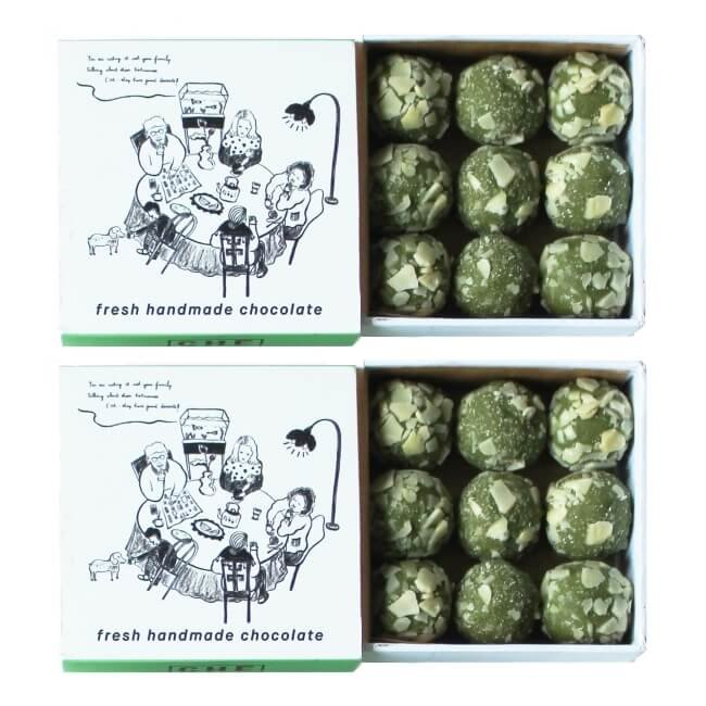 Chilled Almond Coated Vietnamese Green Tea Truffles 2 x 90g