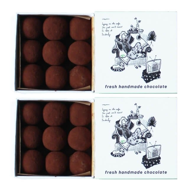 Chilled Cocoa Coated Vietnamese Green Tea Truffles 2 x 90g