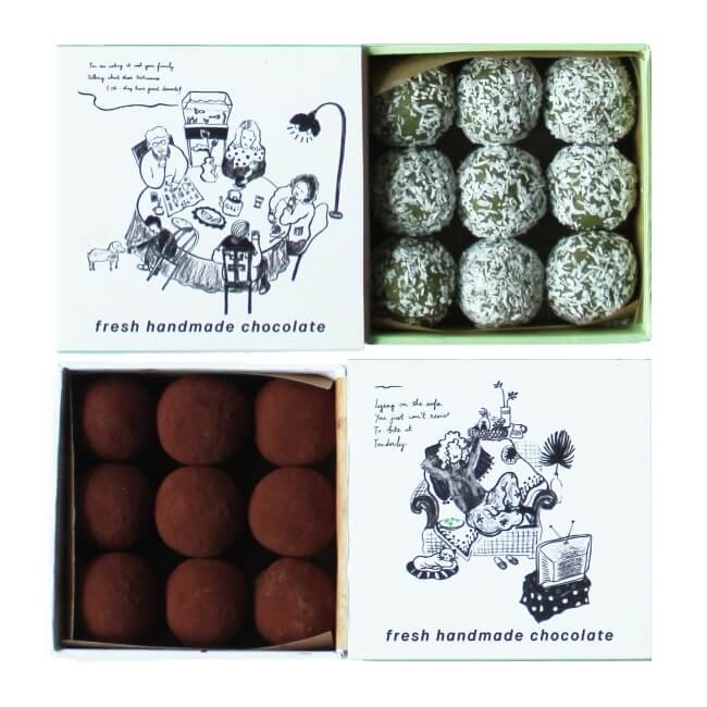 Chilled Desiccated Coconut & Cocoa Coated Vietnamese Green Tea Truffles 2 x 90g