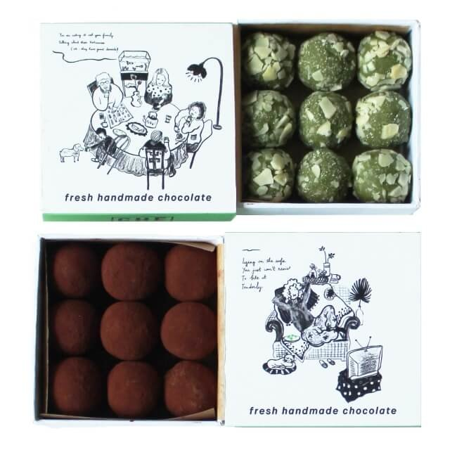 Chilled Almond & Cocoa Coated Vietnamese Green Tea Truffles 2 x 90g