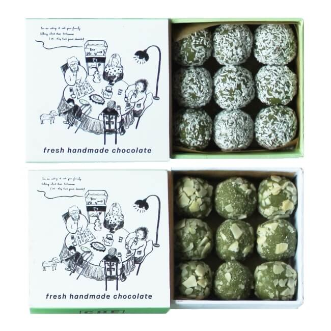 Chilled Almond & Desiccated Coconut Coated Vietnamese Green Tea Truffles 2 x 90g