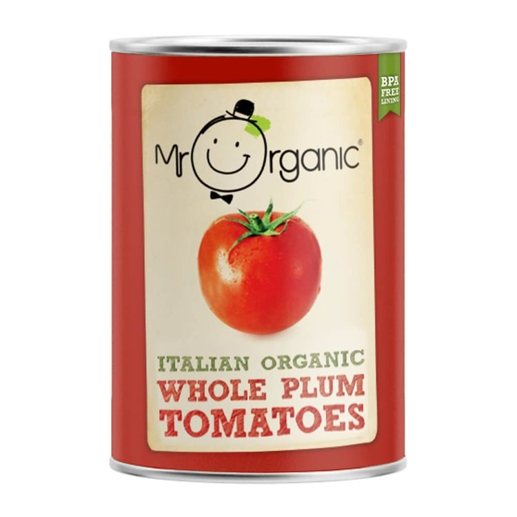 Organic Whole Peeled Tinned Tomatoes 400g