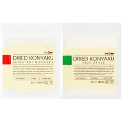 4 Packs of Japanese 'Rice' & Noodles - Dried Konyaku / Konjac