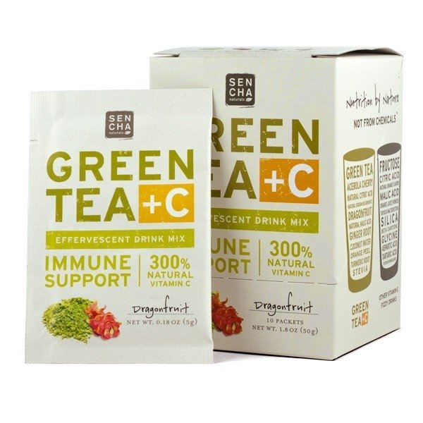 Green Tea +C Dragonfruit Effervescent Drink 10 Sachets