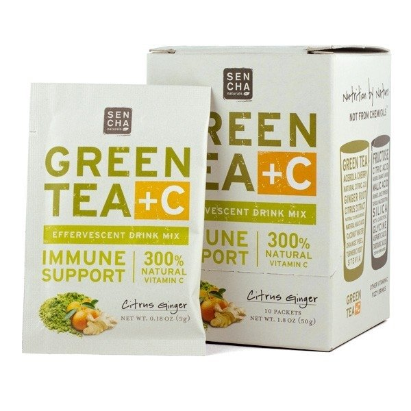 Green Tea +C Citrus & Ginger Effervescent Drink 10 Sachets