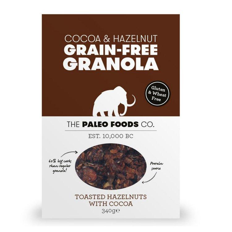 Cacao & Hazelnut Grain-Free Paleo Granola 340g