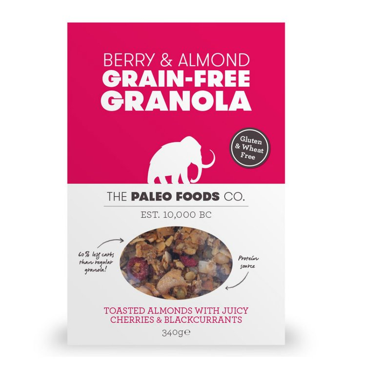 Berry & Almonds Grain-Free Paleo Granola 340g