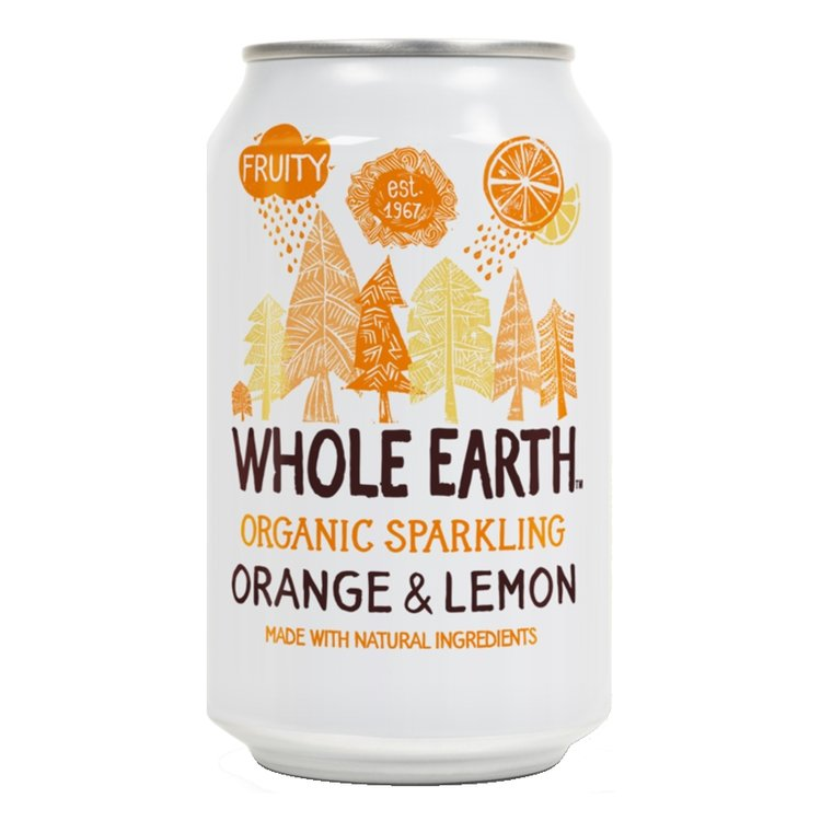 Organic Sparkling Orange & Lemon Soft Drink 330ml