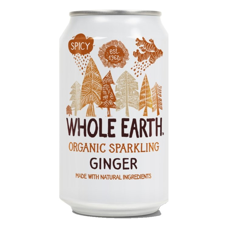 Organic Sparkling Ginger Soft Drink 330ml