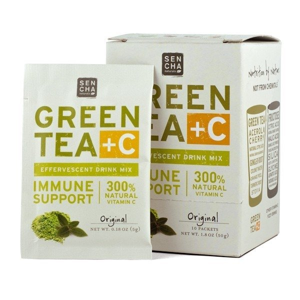 Green Tea +C Original Effervescent Drink 10 Sachets