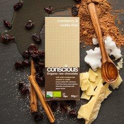 Organic Cranberry & Vodka Raw Chocolate Bar 50g