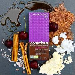 Cheeky Cherry Organic Raw Chocolate Bar 50g