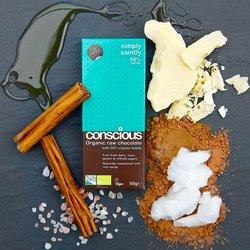 Simply Saintly Organic 60% Raw Chocolate Bar 50g