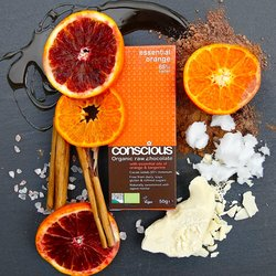 3 x Essential Orange Raw Chocolate Bar 50g