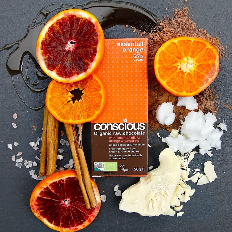 Essential Orange Raw Chocolate Bar 2 x 50g (Get 1 Extra Free!)