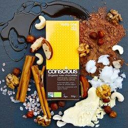 3 x Nutty One Organic 70% Raw Chocolate Bar 50g