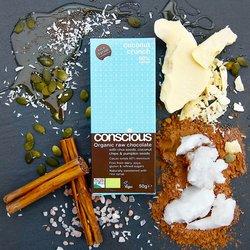 3 x Organic Coconut Crunch Raw Chocolate Bar 50g