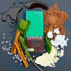 3 x Organic Mint Hint Raw Chocolate Bar 50g