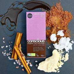 3 x Plain Jane Organic 60% Raw Chocolate Bar 50g