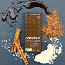3 x Organic 85% Darkside Raw Chocolate Bar 50g