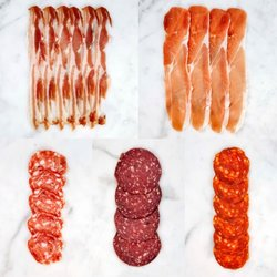 British Artisan Charcuterie Board (Chorizo, Salami, Pancetta & Ham)