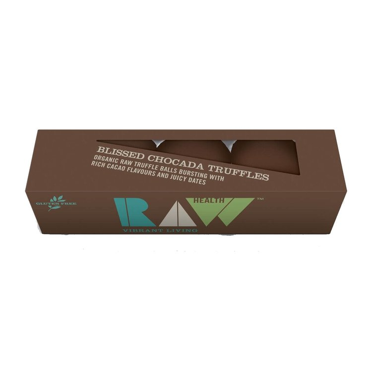 Organic Raw Bliss Chocada Truffles 3 Pack 65g