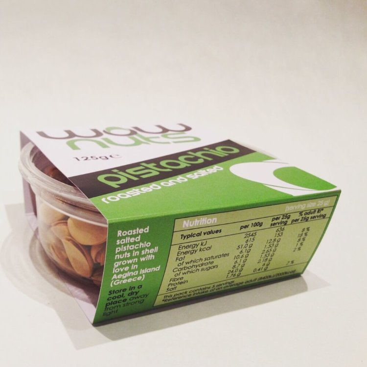 Roasted & Salted Pistachios Tub 125g