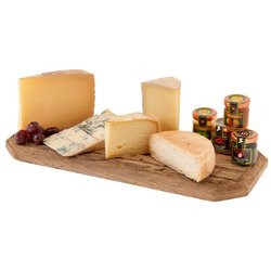 Italian Cheese Platter with Mini Jams Inc. Parmigiano Reggiano, Gorgonzola, Fig Jam & More