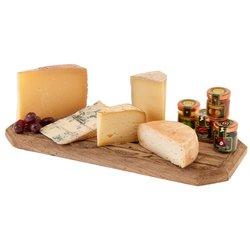 Italian Cheese Platter with Mini Jams Inc. Parmigiano Reggiano, Gorgonzola, Fig Jam & More